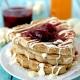 Pancakes με ανθότυρο και μέλι